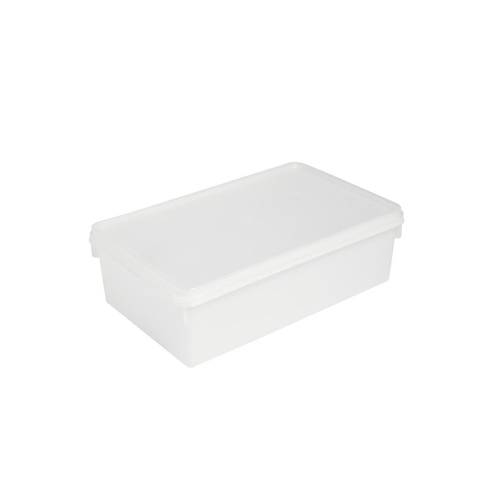 Caixa Retangular Plástica 3,5 Litros Branca Plasvale