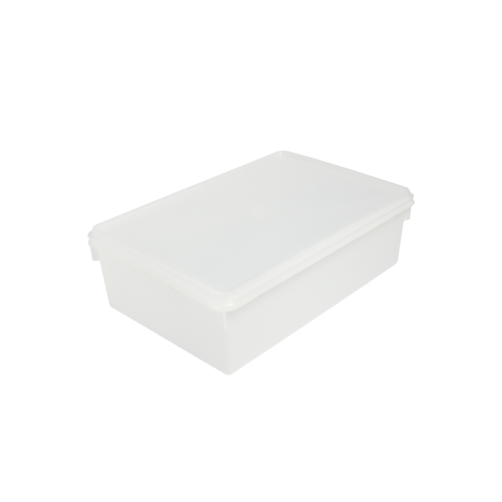 Caixa Retangular Plástica 6,5 Litros Branca Plasvale
