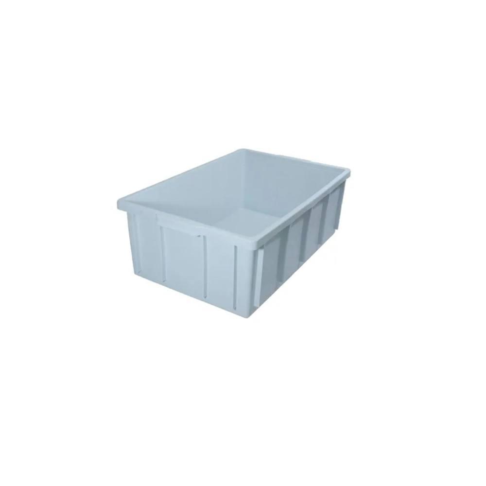 Caixa Retangular Plástica Branca 43x34x15 cm 15 Litros DTR