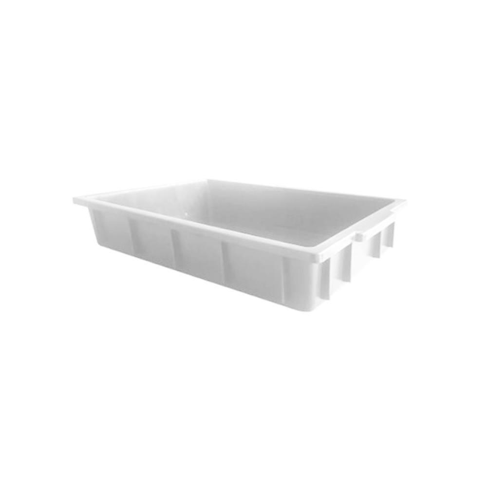 Caixa Retangular Plástica Branca 54x34x7,5 cm 7 Litros DTR