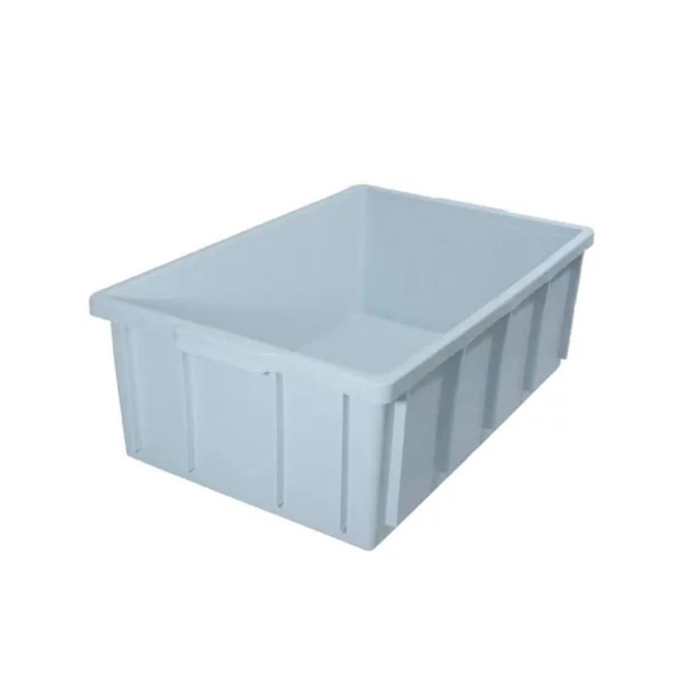 Caixa Retangular Plástica Branca 61x38x21 cm 36 Litros DTR
