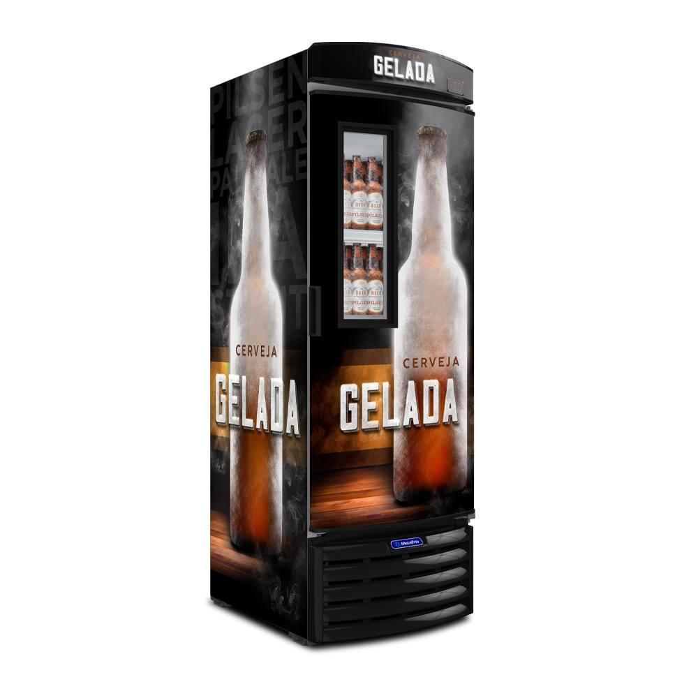 Cervejeira com Visor Expositor 572 litros Preto – Metalfrio