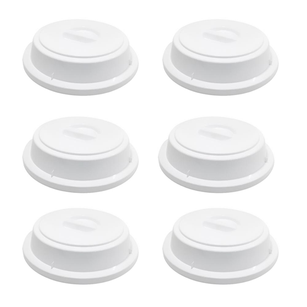 Cloche Elegance 5x27,5 em Policarbonato Branco Vemplast Kit c/6 Peças