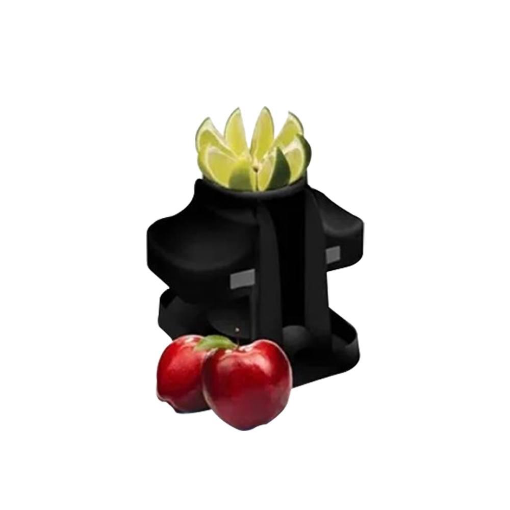 Cortador De Frutas E Legumes com 8 Lâminas de Aço Inox Preto