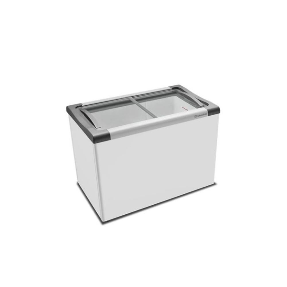 Freezer Horizontal Tampa de Vidro 388 Litros 220v Metalfrio