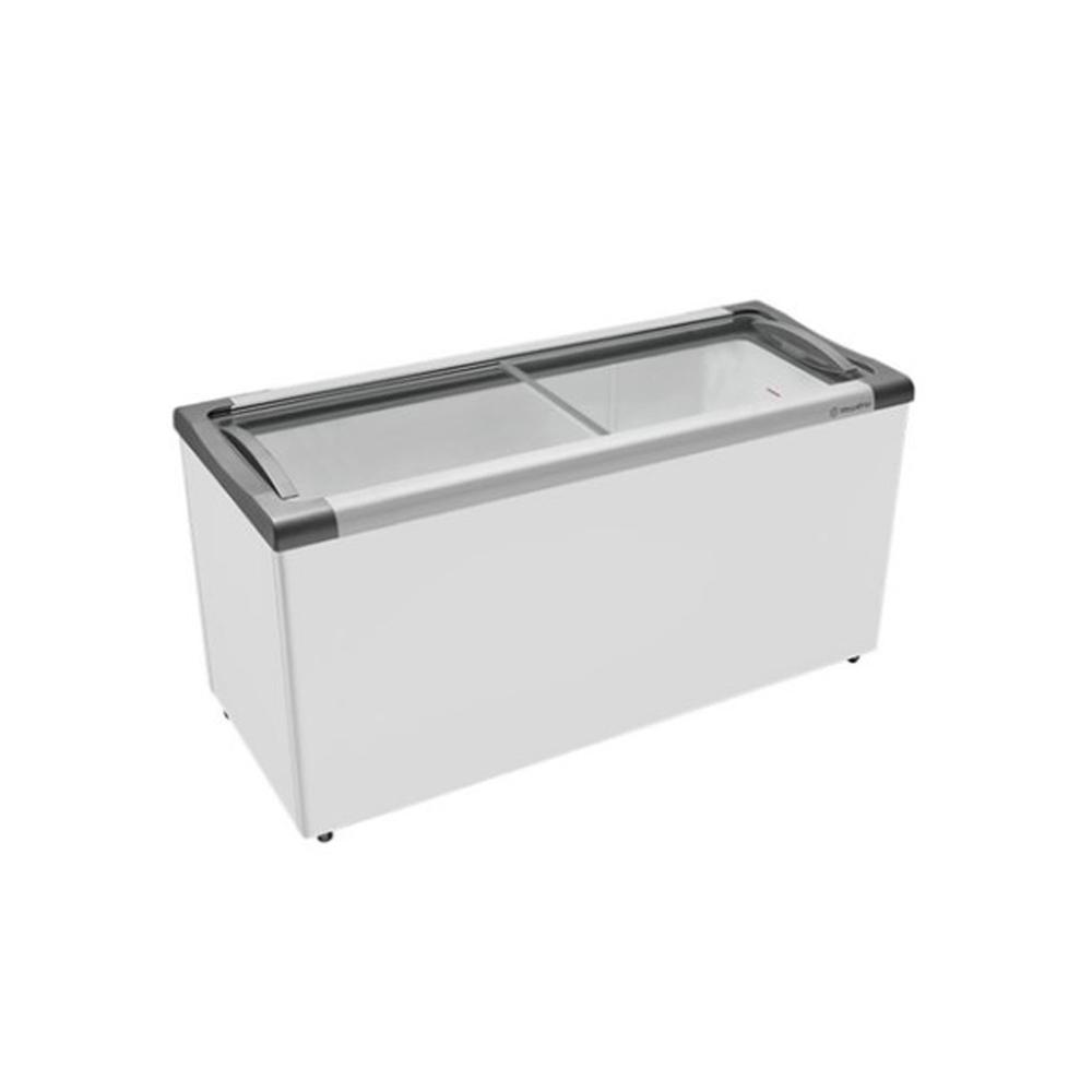 Freezer Horizontal Tampa de Vidro 563 Litros NF55 220v Metalfrio