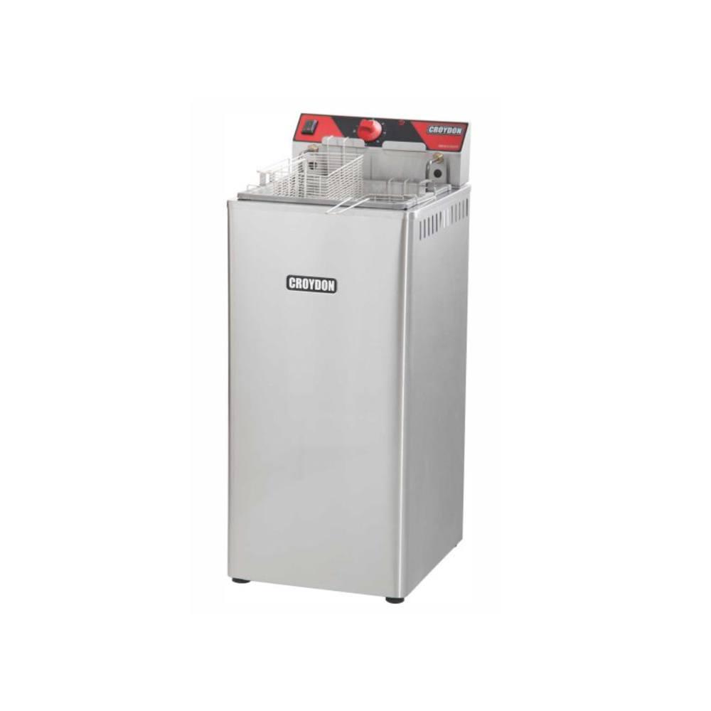 Fritadeira Elétrica Industrial 2 Cestos 18 Litros 8000W 220V Zona Fria Croydon