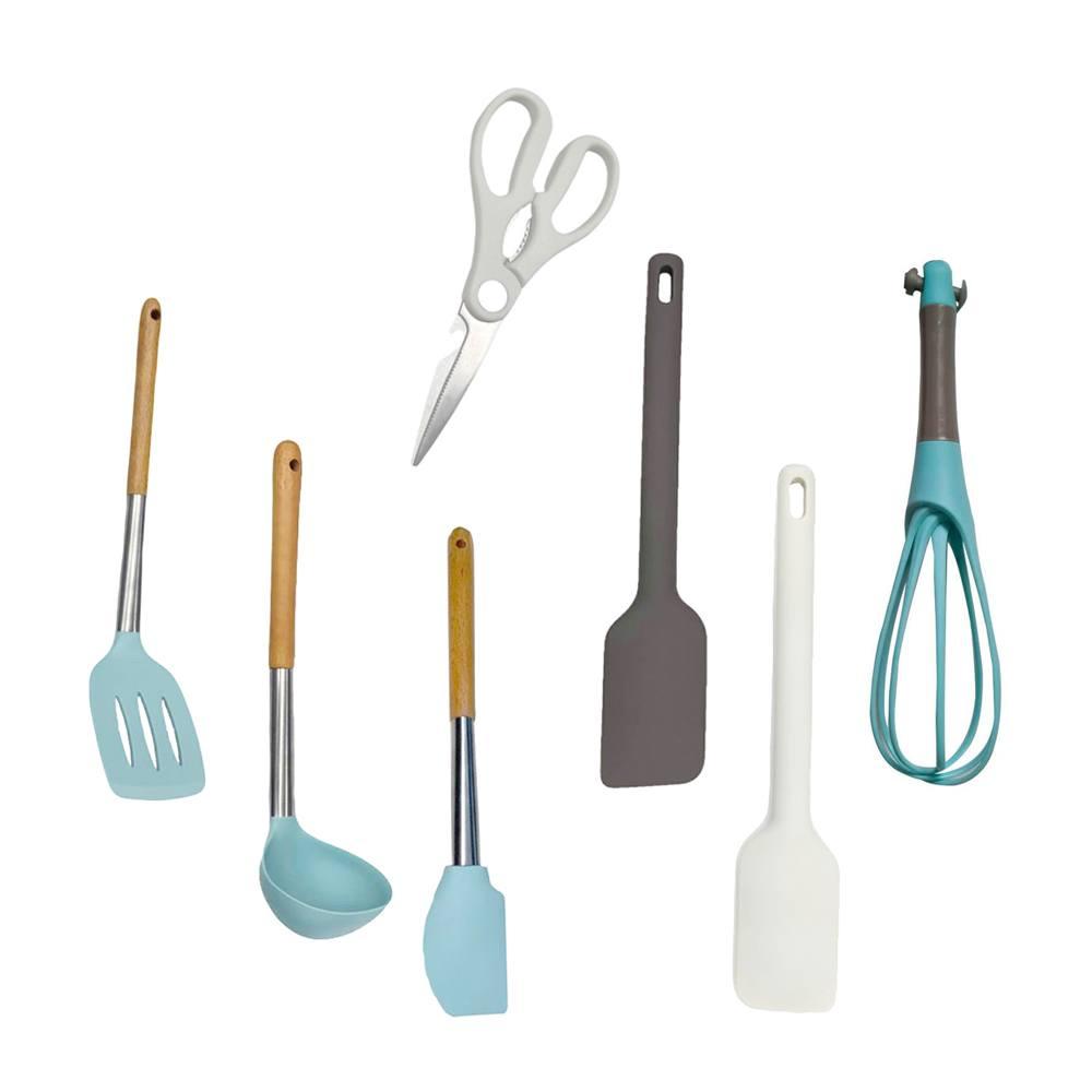 Kit com 7 Utensílios De Cozinha em Silicone Frigopro