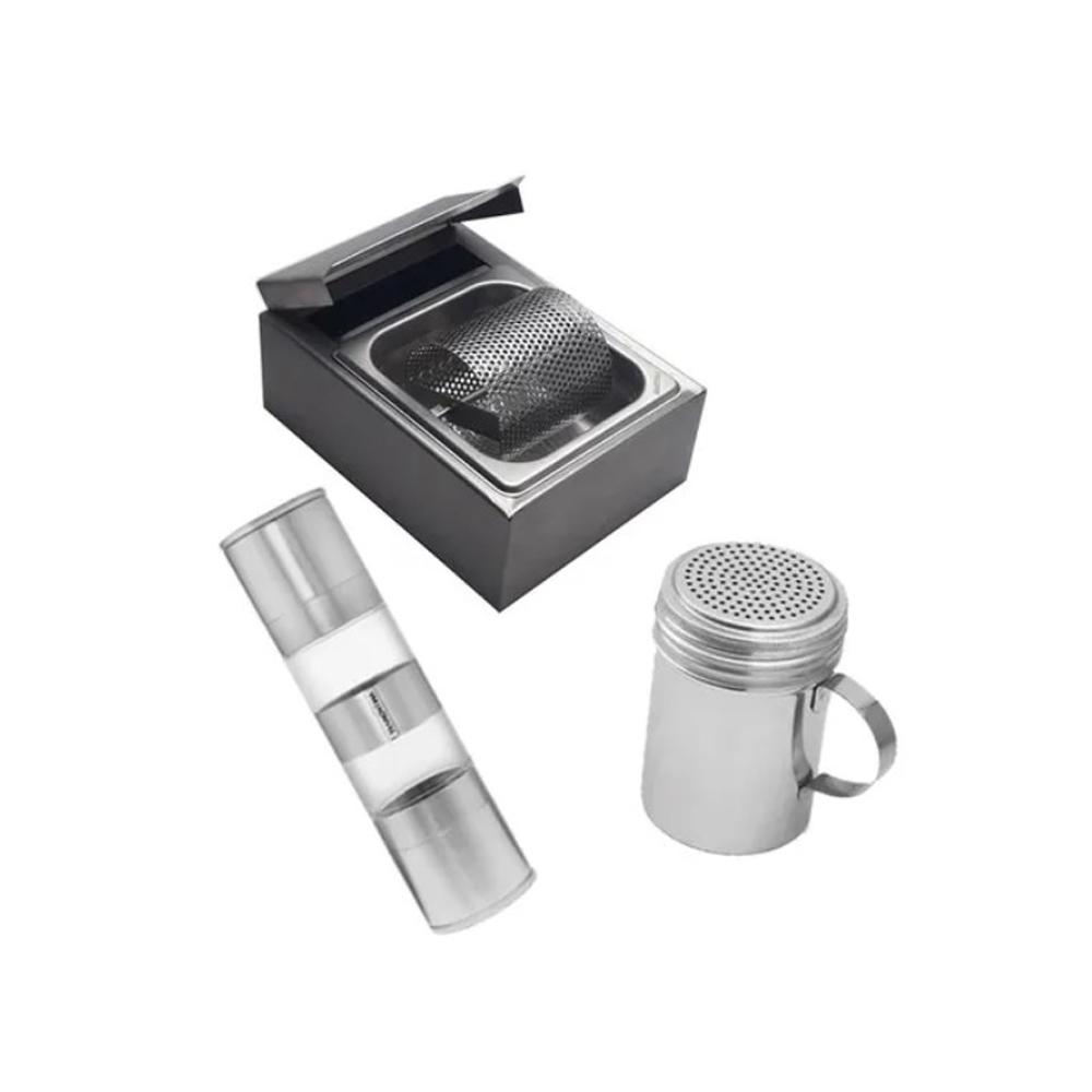 Kit Manteigueira + Dispenser Sal + Moedor Duplo Tramontina