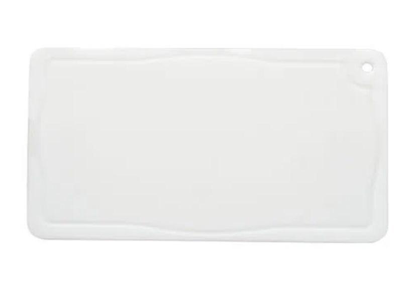 Placa de Corte com Canaleta em Polietileno Branca 1x30x50cm Pronyl