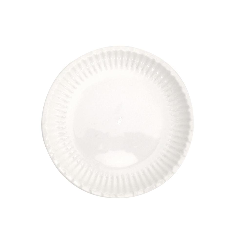 Prato Melamina Branco 25 cm 6 Pçs Frigopro