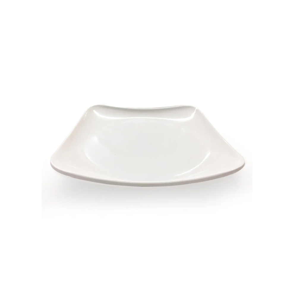 Prato Quadrado de Melamina Branco 18x18 cm 6 Pçs Frigopro
