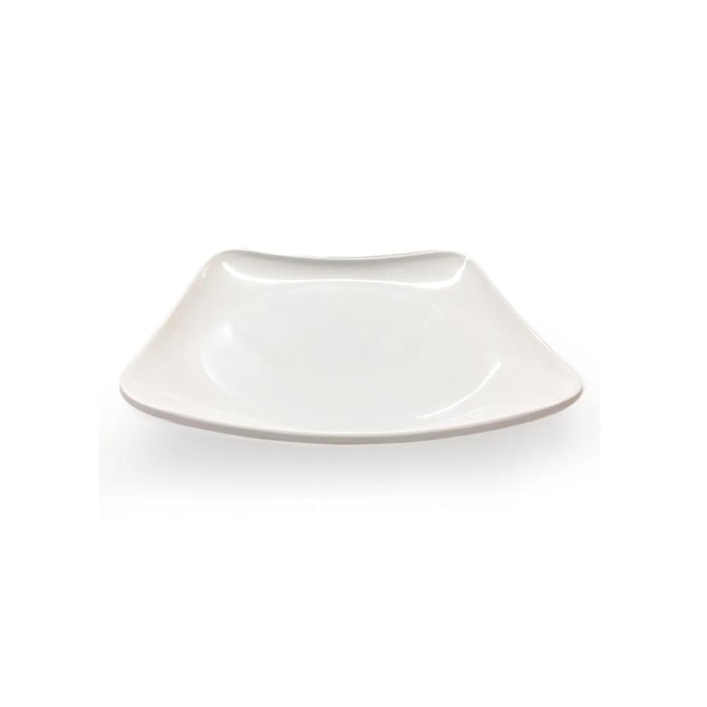 Prato Quadrado de Melamina Branco 24x24 cm 12 Pçs Frigopro