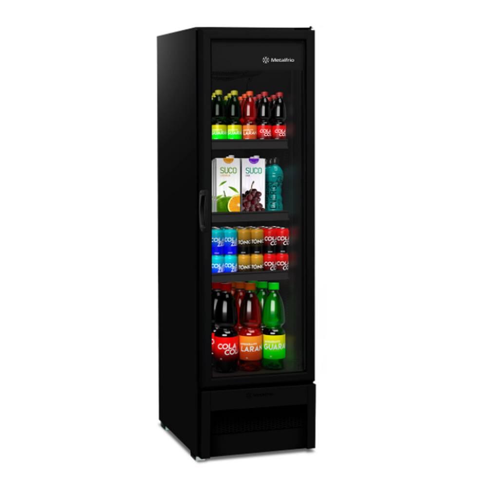 Refrigerador Metalfrio All Black Expositora Porta Vidro 324 Litros VB28RHDD26