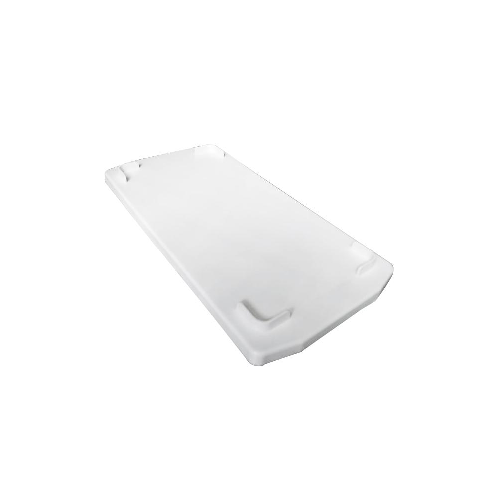 Tampa p/ Caixa Retangular Plástica Branca 32x17x1 Cm DTR