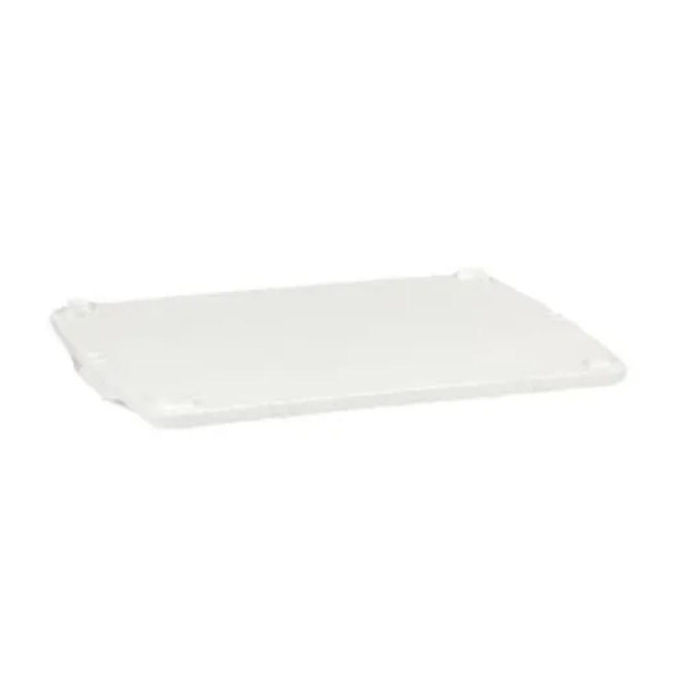 Tampa Para Caixa Retangular Plástica Branca 36 Litros  62x38 DTR