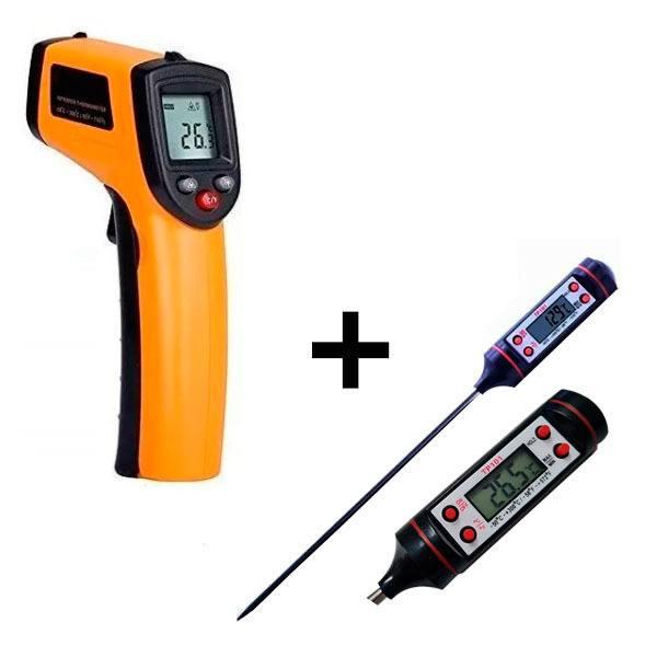 Termômetro Infravermelho Culinário + Termômetro Digital Espeto Frigopro
