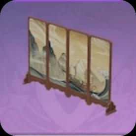 Pine Folding Screen: Billowing Sails