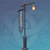 Wrought Iron Carved Street Light