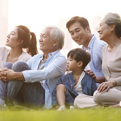 Asian family outside 400x400