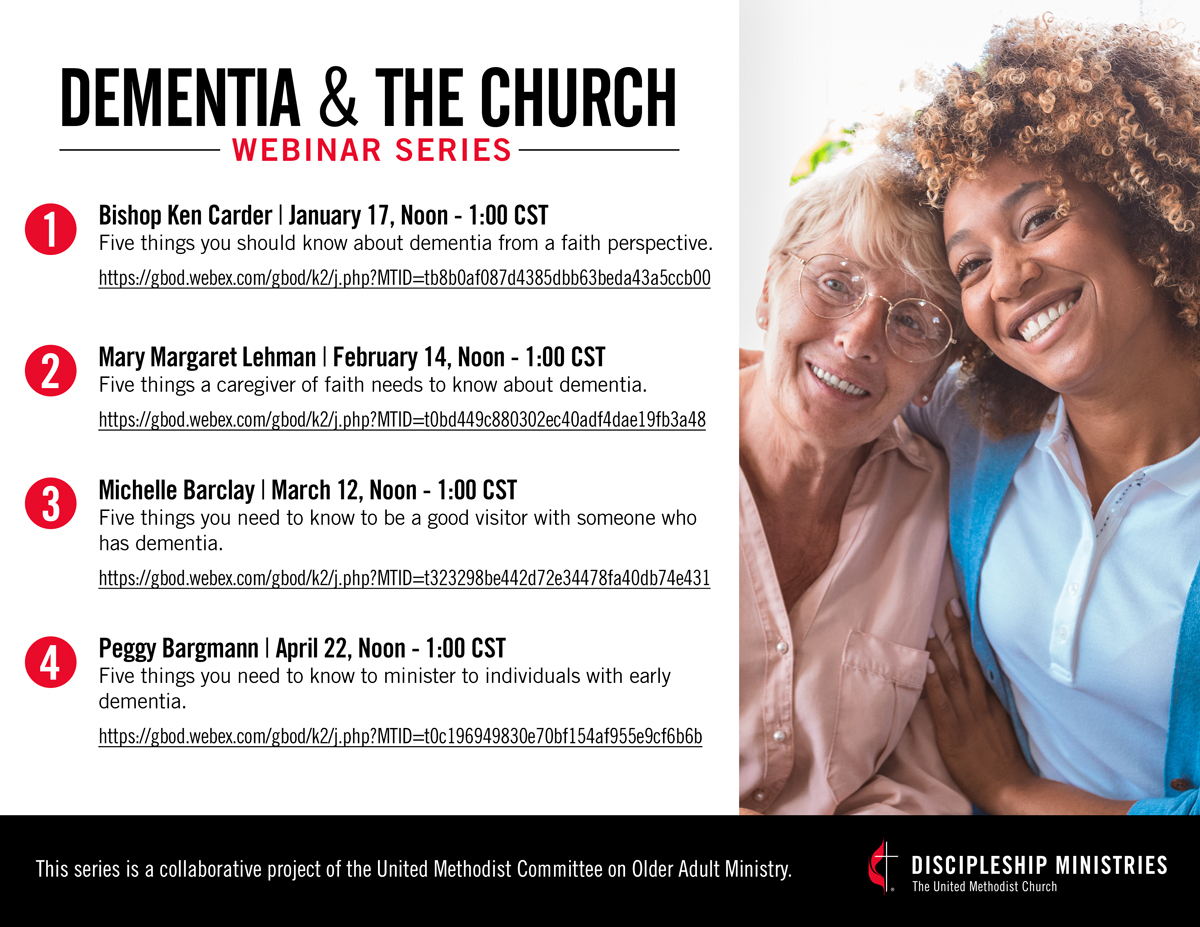 Dementia church webinar graphic