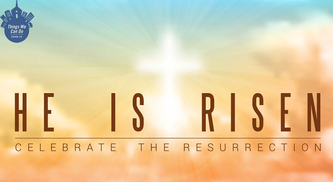 He is risen covid badge