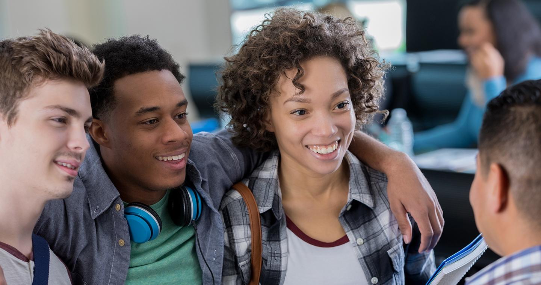Millennial friends slider