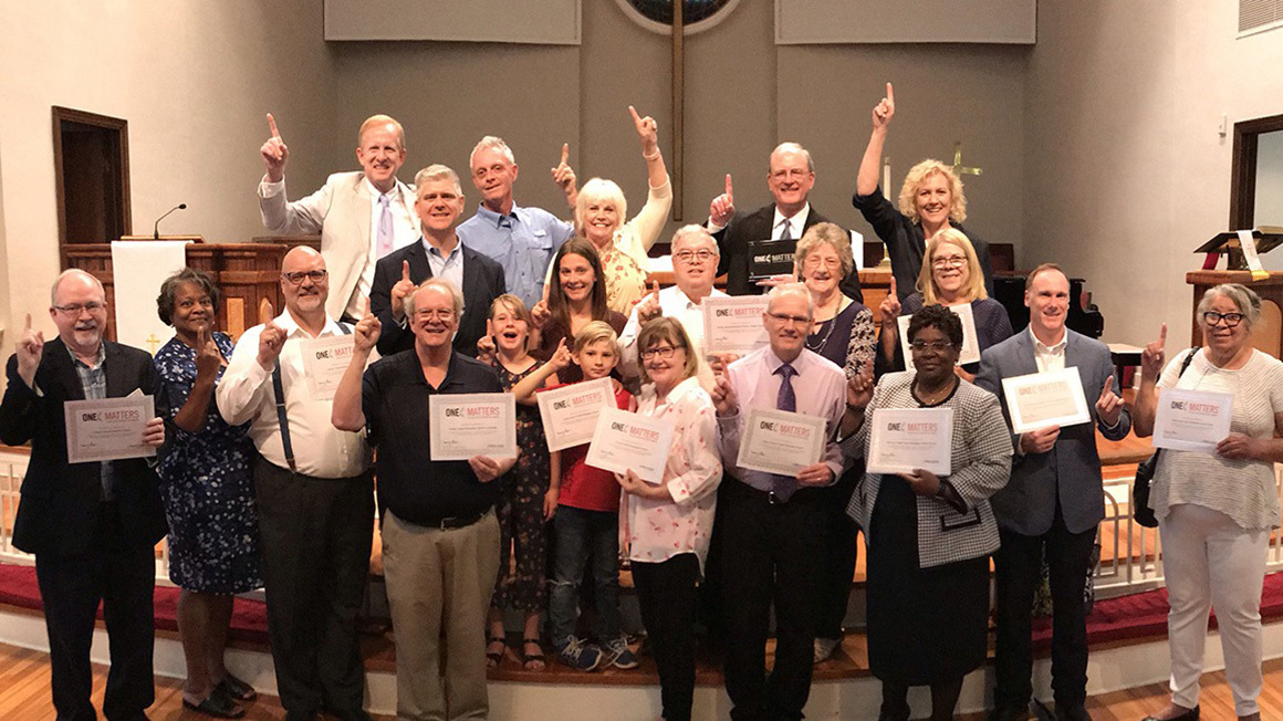 North texas east district members with awards