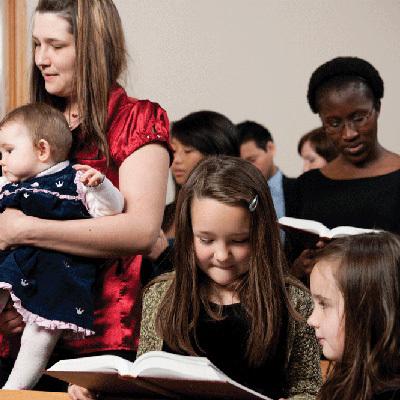 People in church 400x400