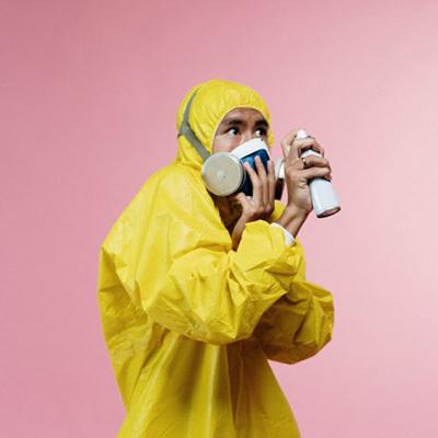 Person in yellow hazmat suit 400x400