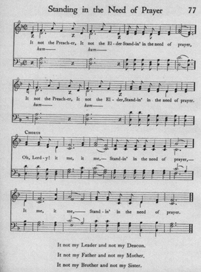 Standing in the need of prayer sheet music