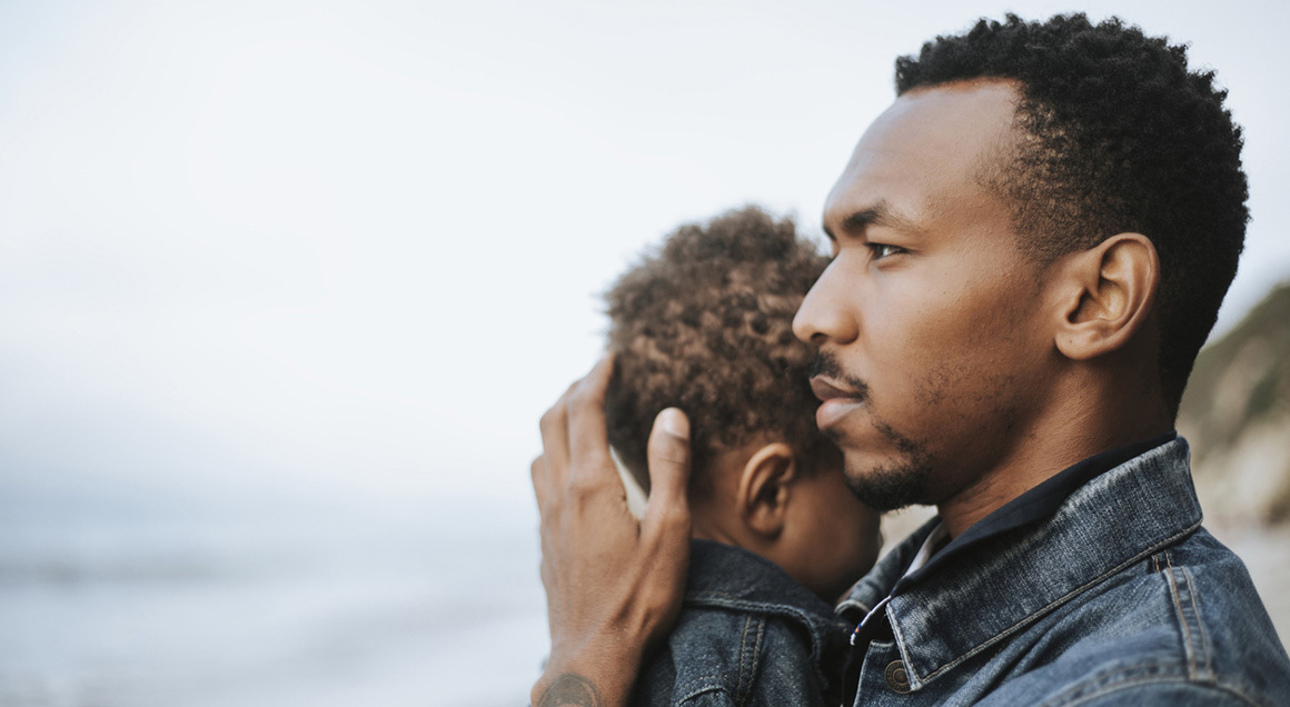 Stock african american man with son 72px