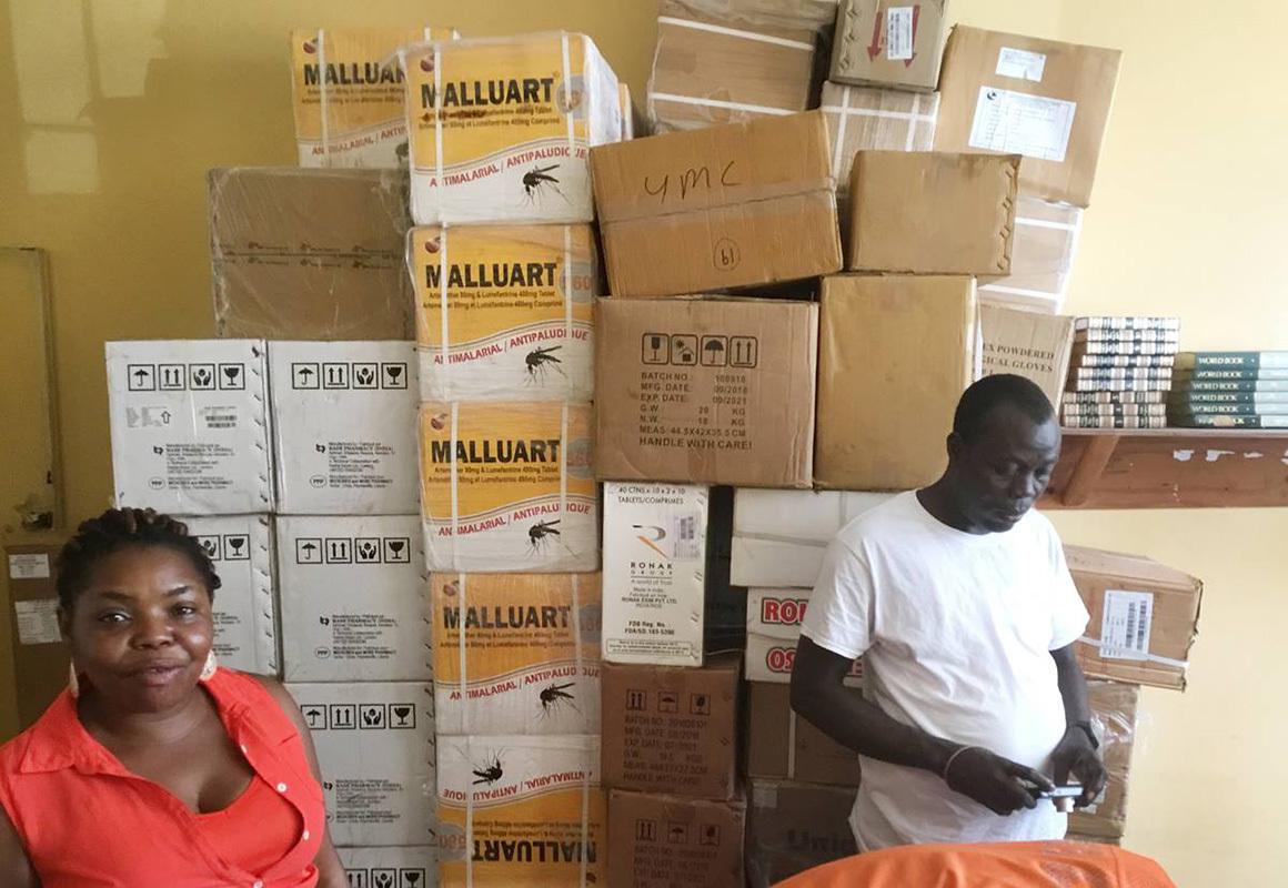 Liberia malaria drugs supplies people