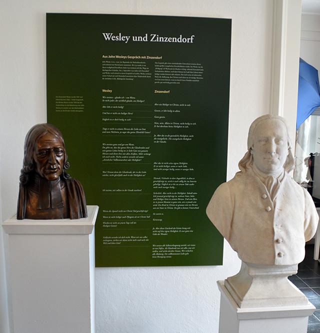 Wesley von zinzendorf busts
