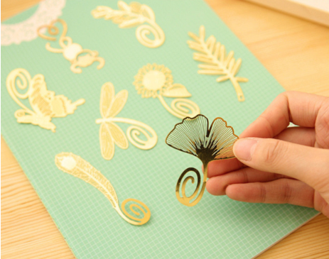 Beautiful Gold Plated Metal Bookmarks