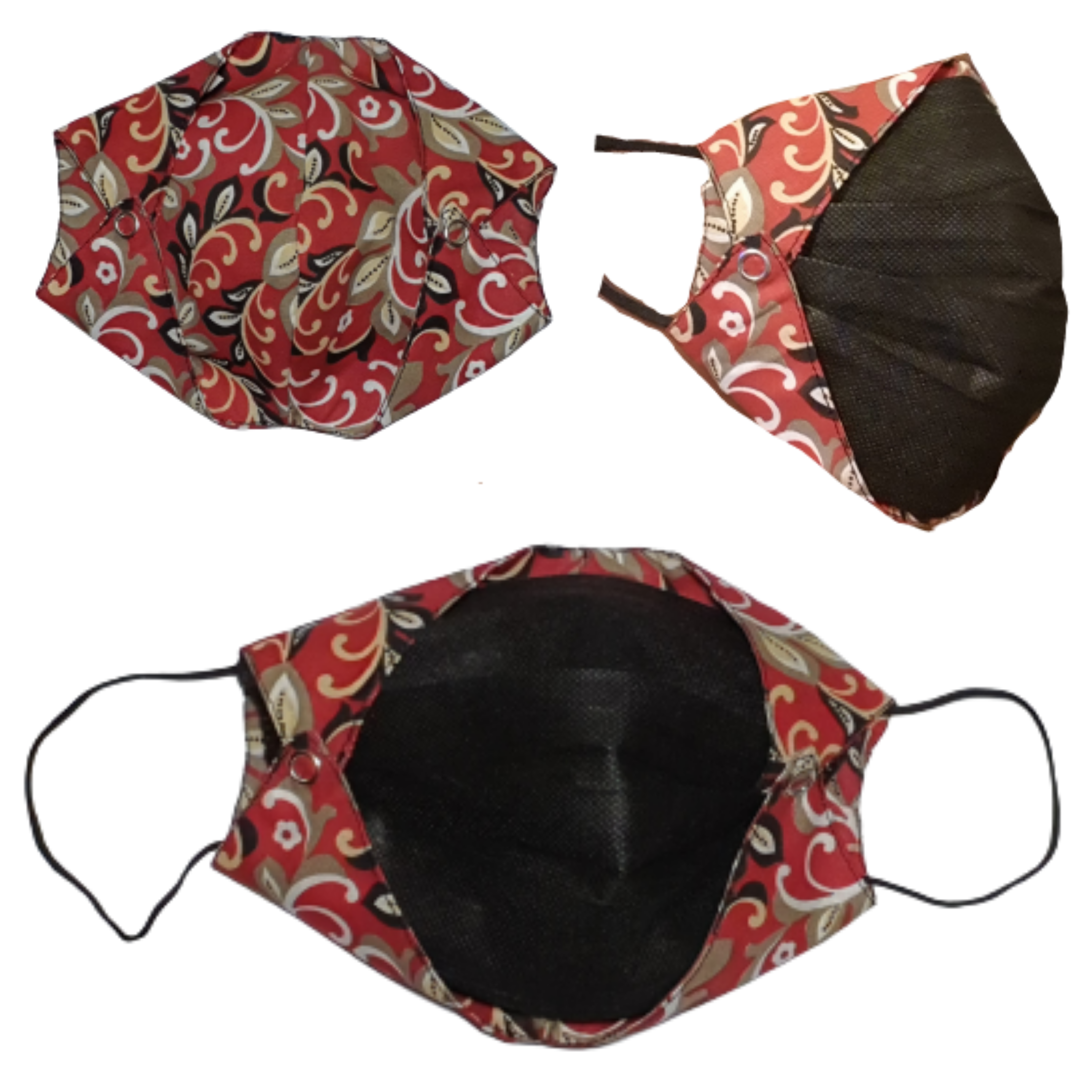 Cotton fabric disposable mask cover