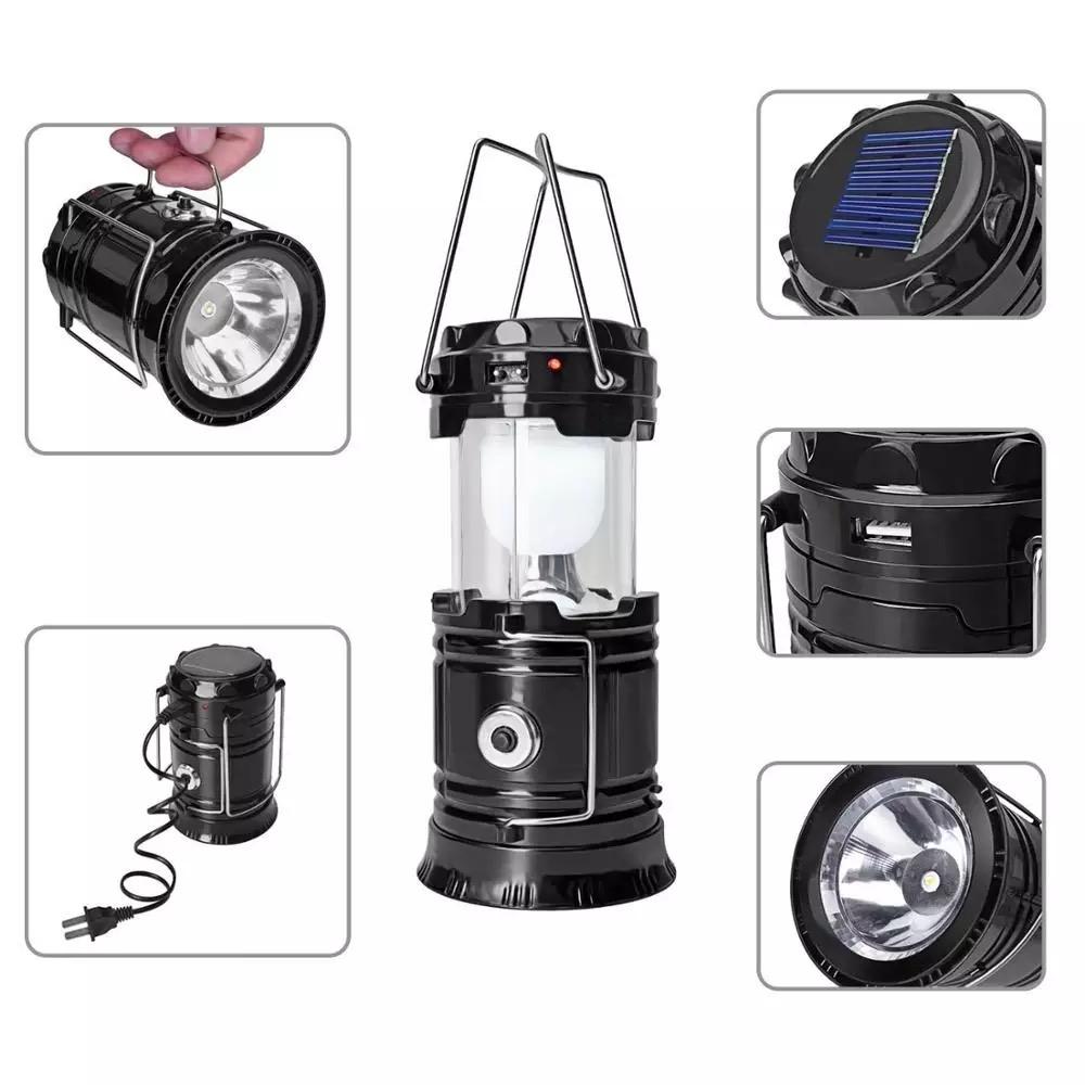 Solar LED Flashlight Rechargeable Lantern