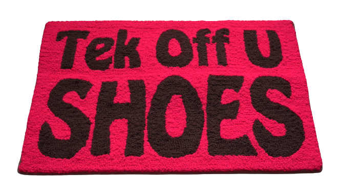 Tek Off Yuh Shoes Door Mat