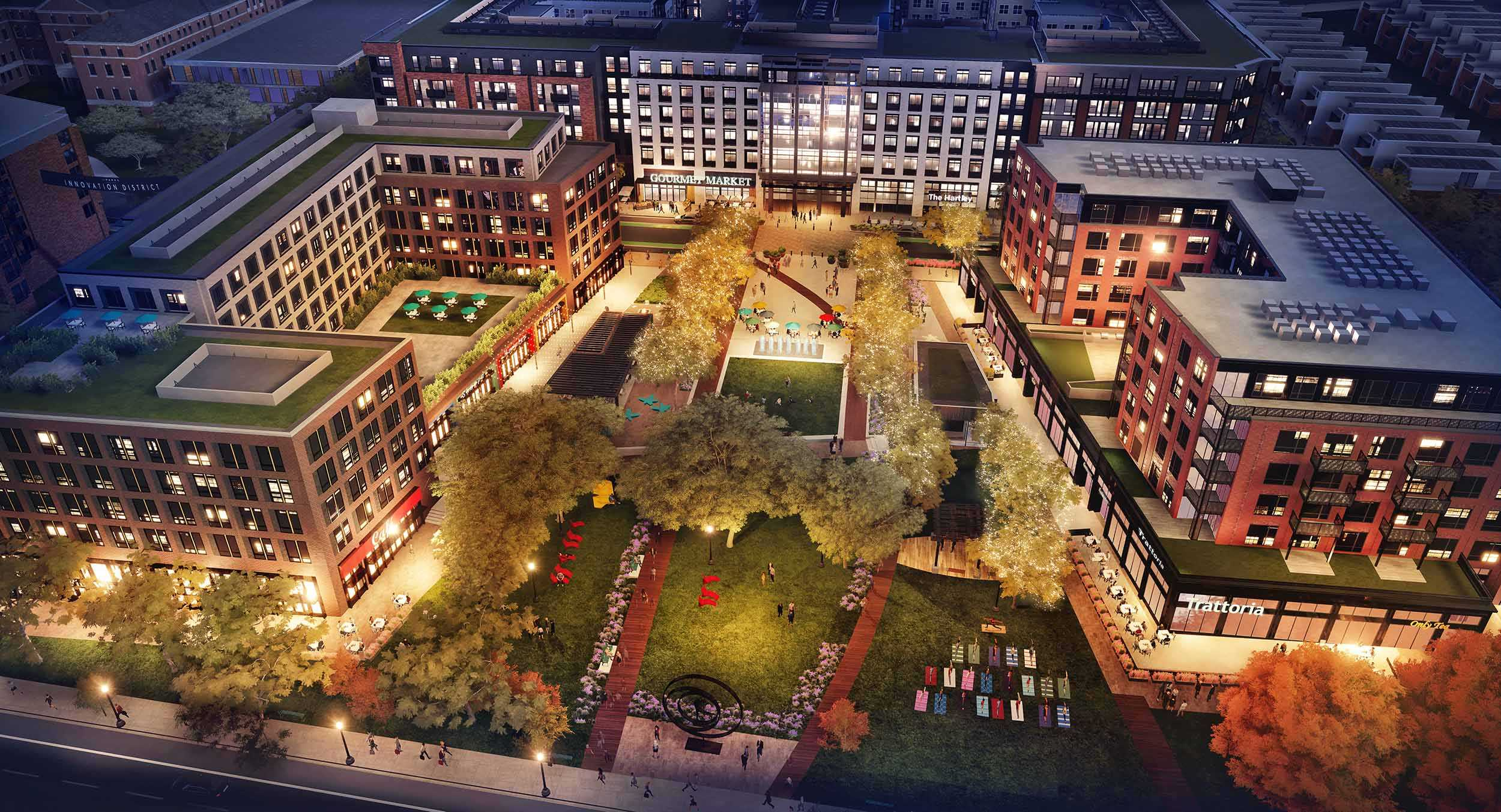 The Parks at Walter Reed, Whole Foods Market-Anchored Town Center