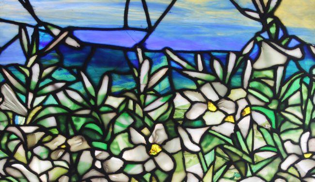 Tiffany Studios Leaded Glass Window