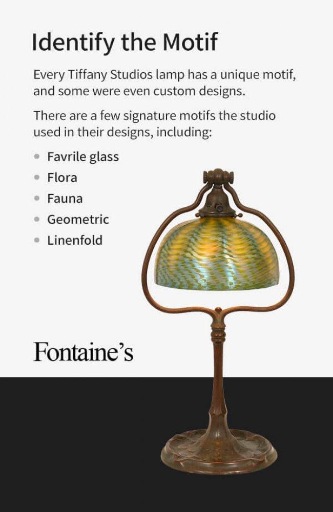 unique motifs of Tiffany Studios Lamps