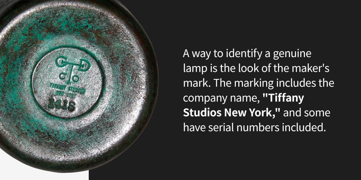 Tiffany Studios Lamp maker's mark