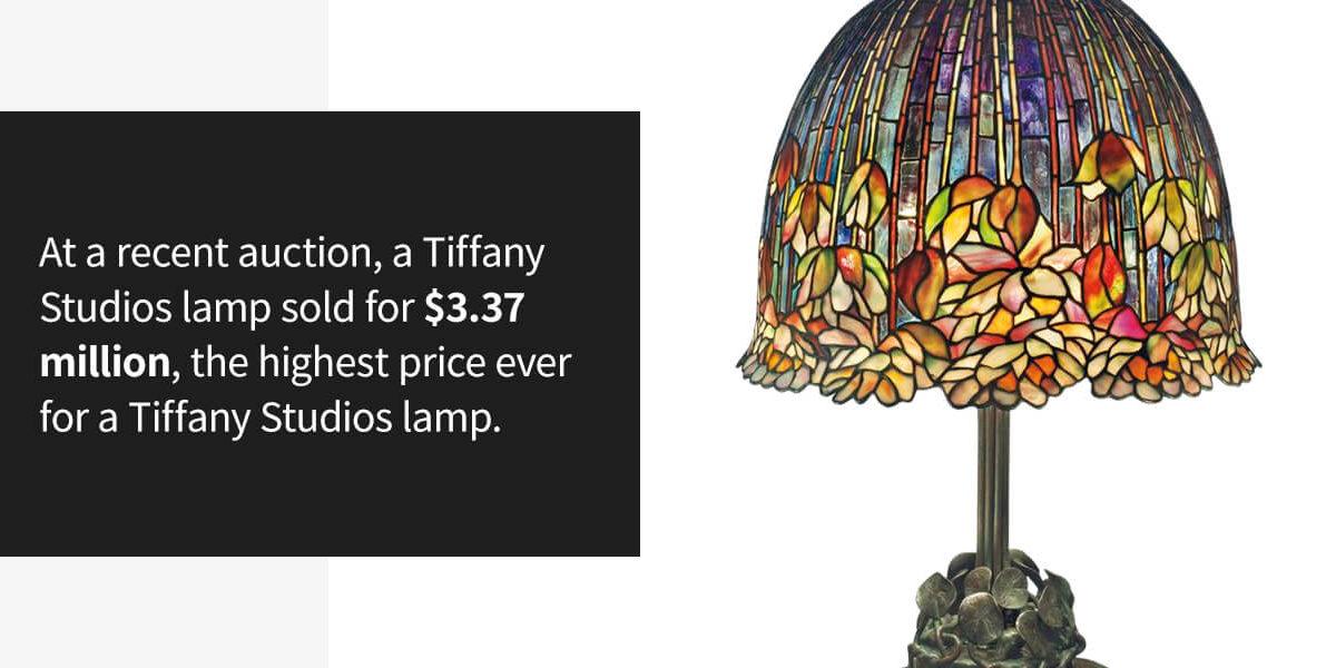 Tiffany Studios Lamp sold for $3.37 million