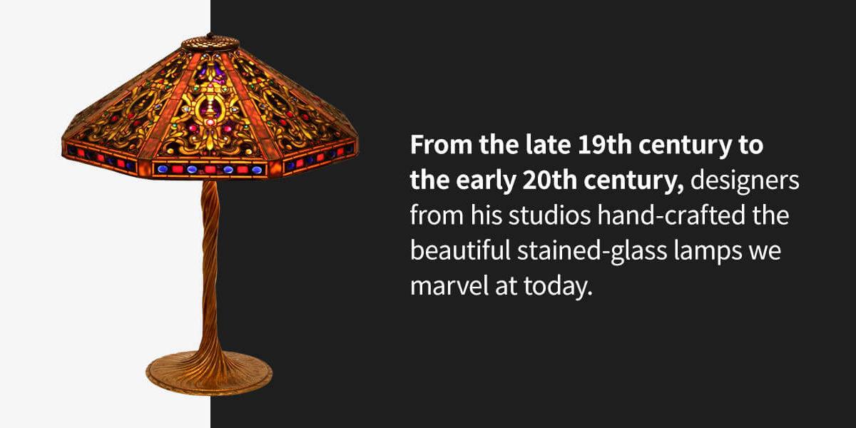 history of Tiffany Studios Lamps