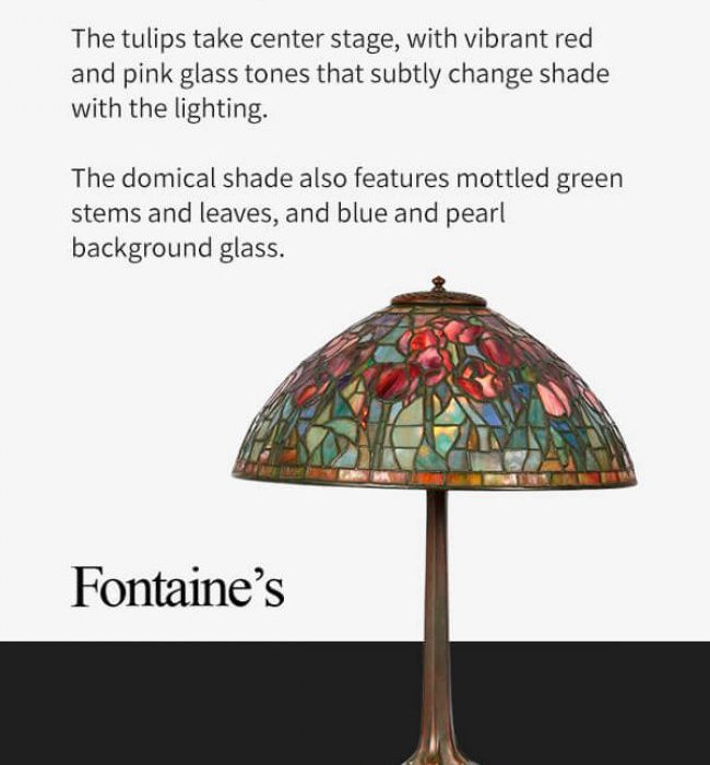 Tiffany Studios Red Tulip Table Lamp