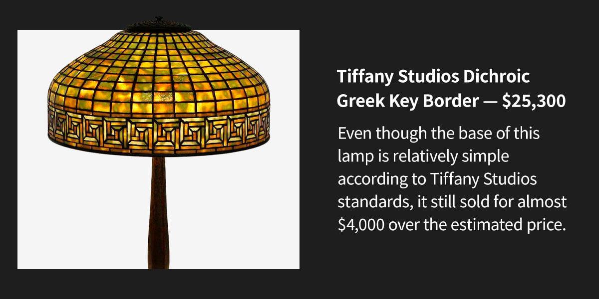 Tiffany Studios Dichroic Greek Key Border