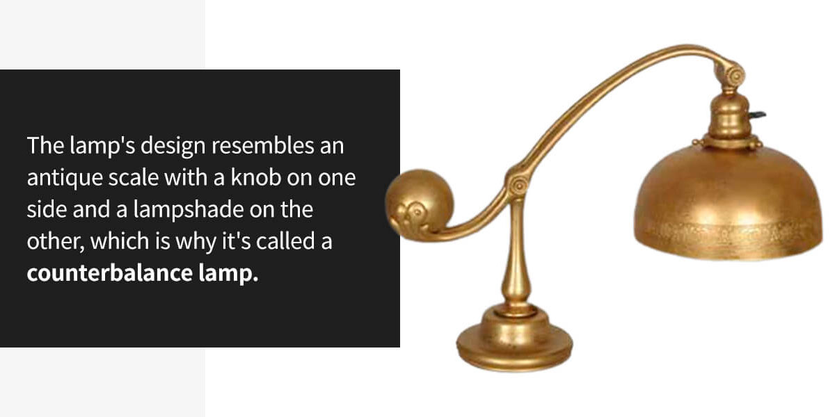 Tiffany Studios Dore Bronze Counterbalance Desk Lamp