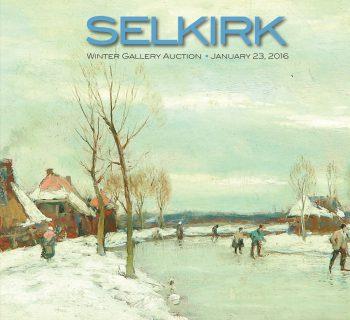 Catalog Cover - Winter Skating Painting