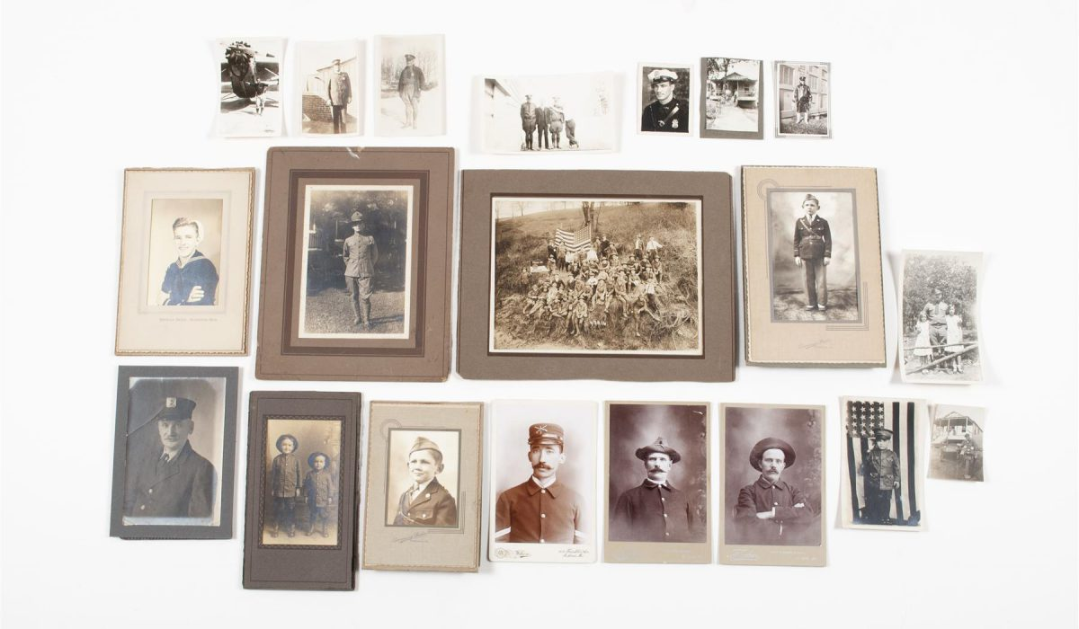MILITARY, POLICE, AND BOY SCOUT PHOTOGRAPHS