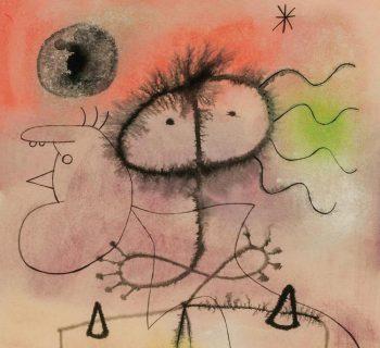 JOAN MIRO, Spanish (1893-1983), Femme, Oiseau, Etoiles (Woman, Bird, Stars)